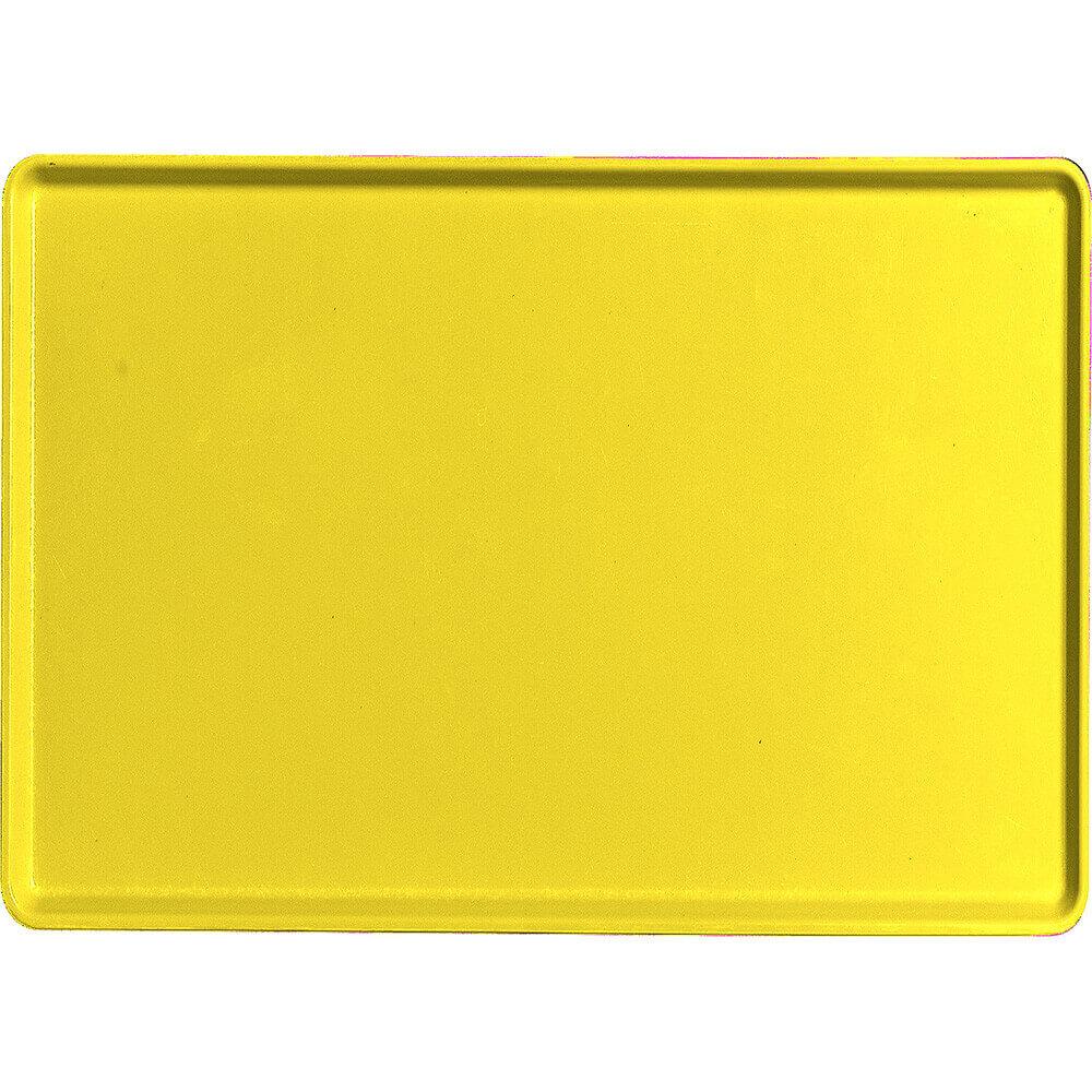 "Mustard, 16"" x 22"" Healthcare Food Trays, Low Profile, 12/PK"