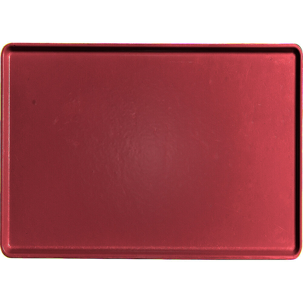 "Cherry Red, 16"" x 22"" Healthcare Food Trays, Low Profile, 12/PK"