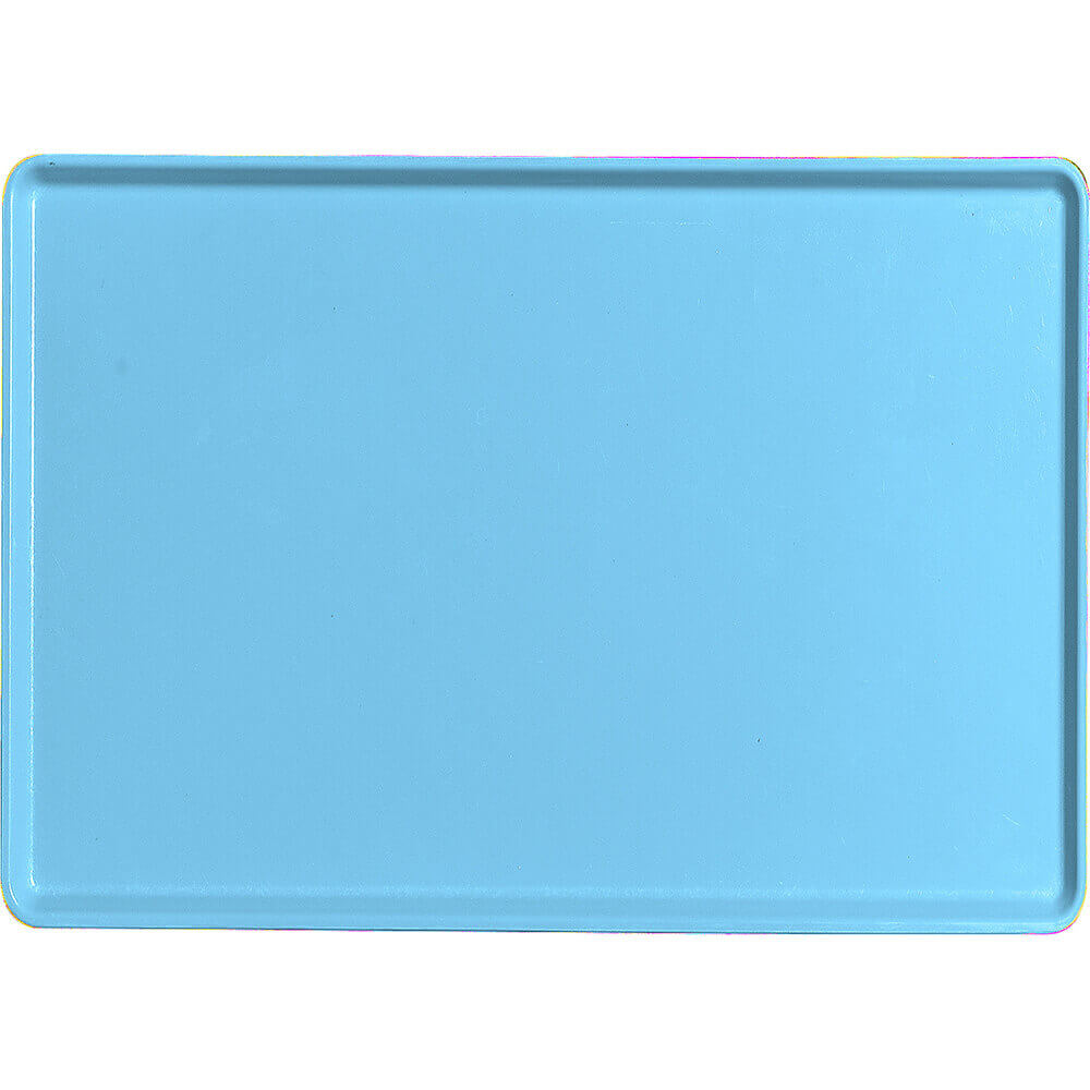 "Robin Egg Blue, 16"" x 22"" Healthcare Food Trays, Low Profile, 12/PK"
