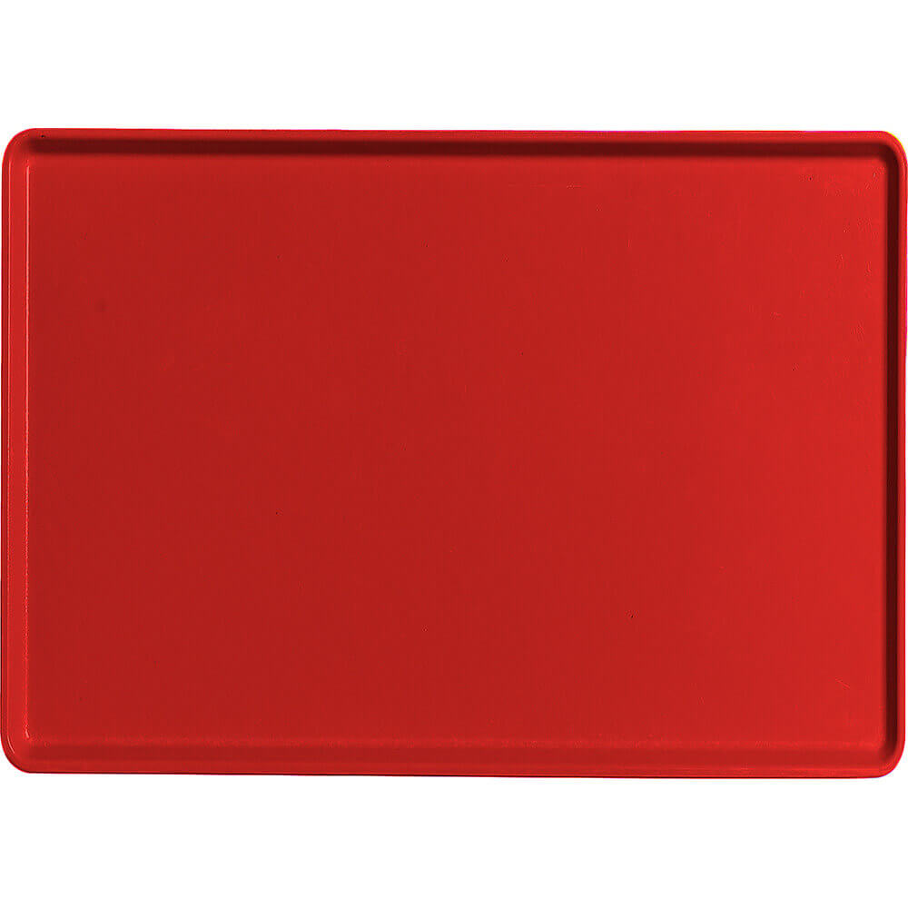 "Cambro Red, 16"" x 22"" Healthcare Food Trays, Low Profile, 12/PK"
