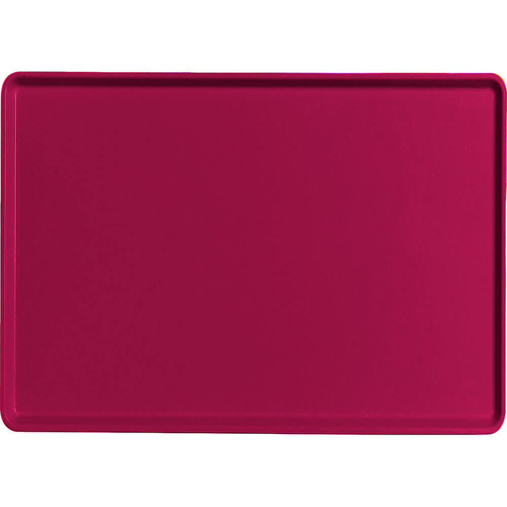 "Burgundy Wine, 16"" x 22"" Healthcare Food Trays, Low Profile, 12/PK"