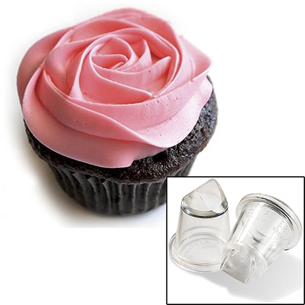 Clear, Polycarbonate Icing Tips, Straight Rose Shape, 2/PK View 2