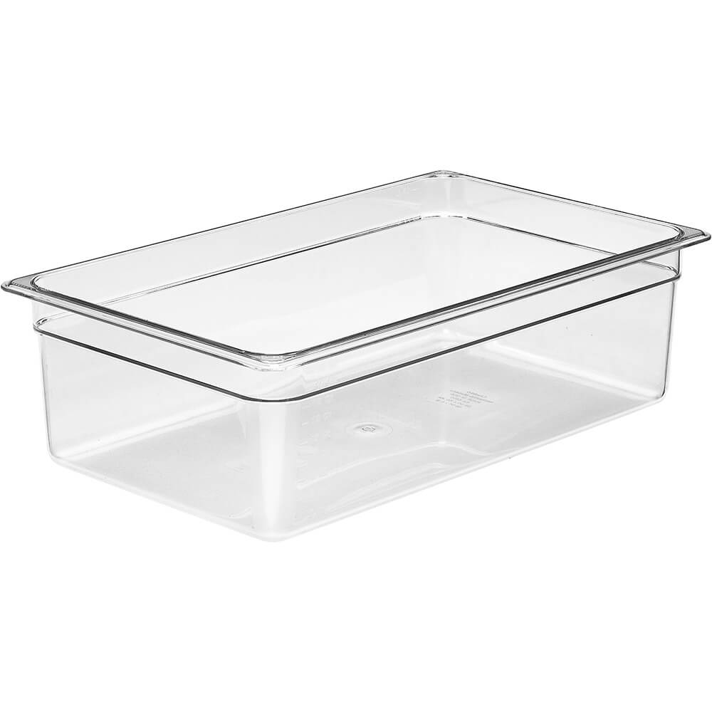 "Clear, 1/1 GN Food Pan, 6"" Deep, 6/PK"
