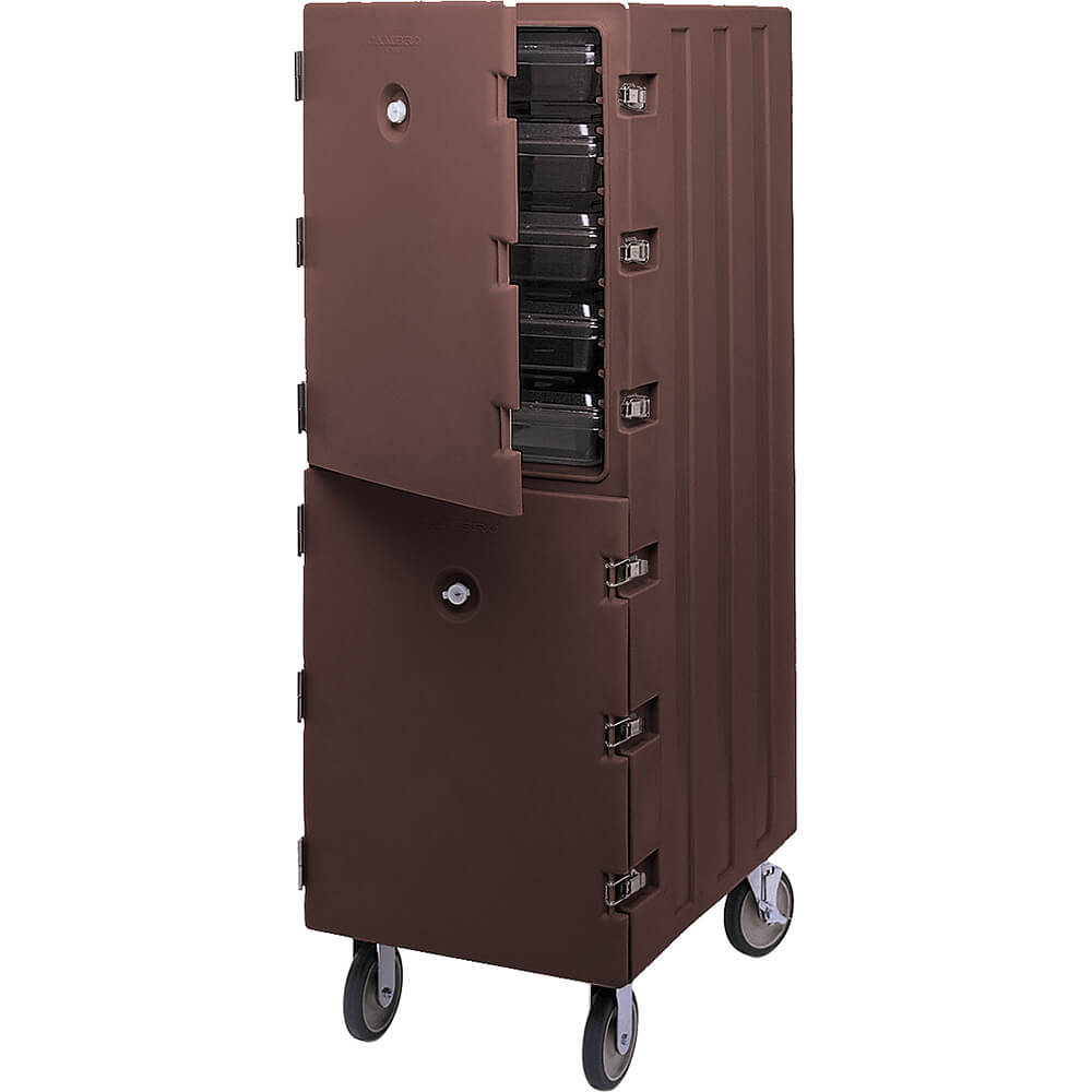 Dark Brown, Double Compartment Food Cart for 18x26 Boxes