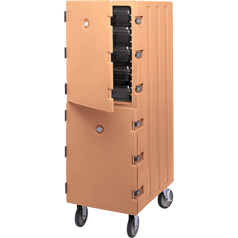 Coffee Beige, Double Compartment Food Cart for 18x26 Boxes