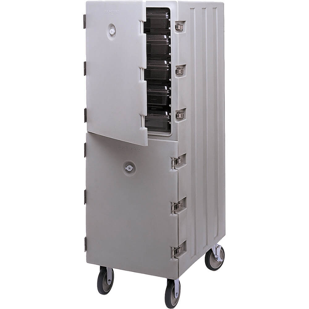 Gray, Double Compartment Food Cart for 18x26 Boxes