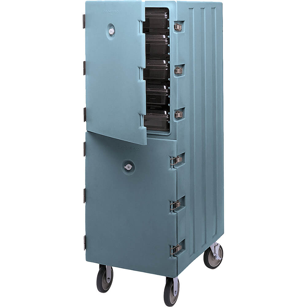 Slate Blue, Double Compartment Food Cart for 18x26 Boxes