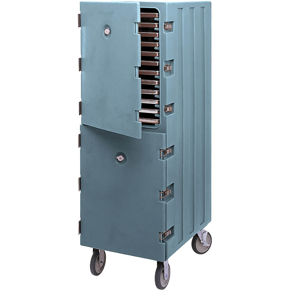 Slate Blue, Double Compartment Food Cart for Sheet Pans / Trays