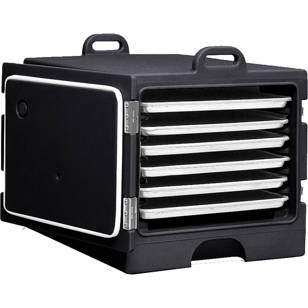 "Black, Stackable Carrier for 18"" X 26"" Trays and Sheet Pans"