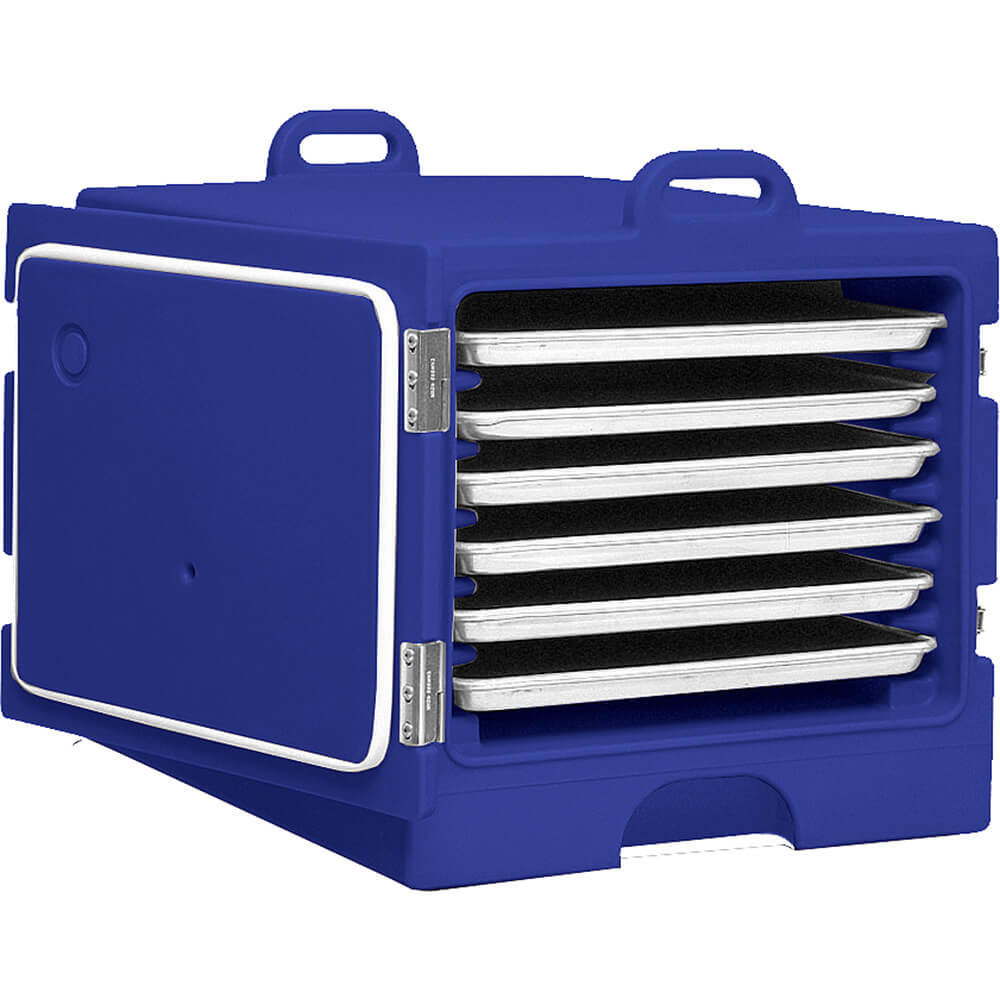 "Navy Blue, Stackable Carrier for 18"" X 26"" Trays and Sheet Pans"