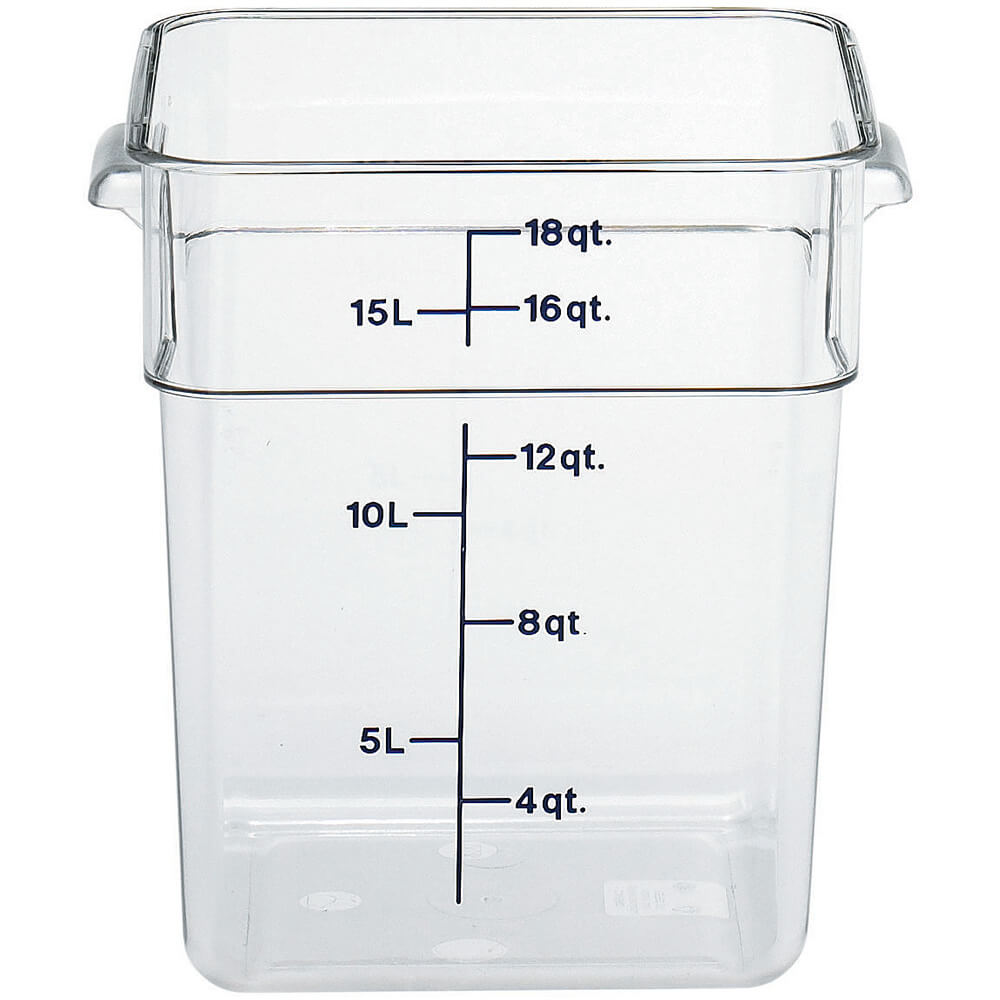 Clear, 18 Qt. CamSquare Food Storage Containers, 6/PK