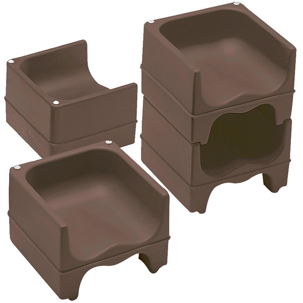 Dark Brown, Dual Height Booster Seat, No Strap, 4/PK