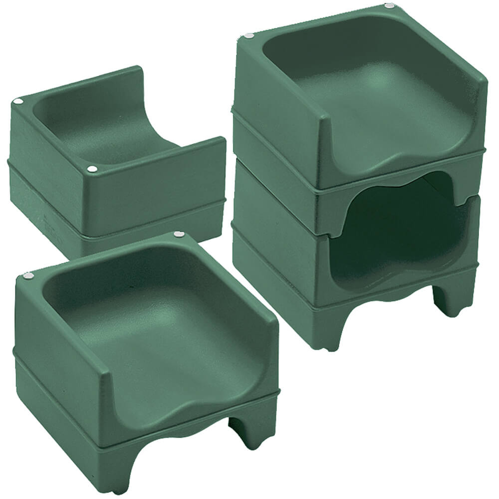 Green, Dual Height Booster Seat, No Strap, 4/PK