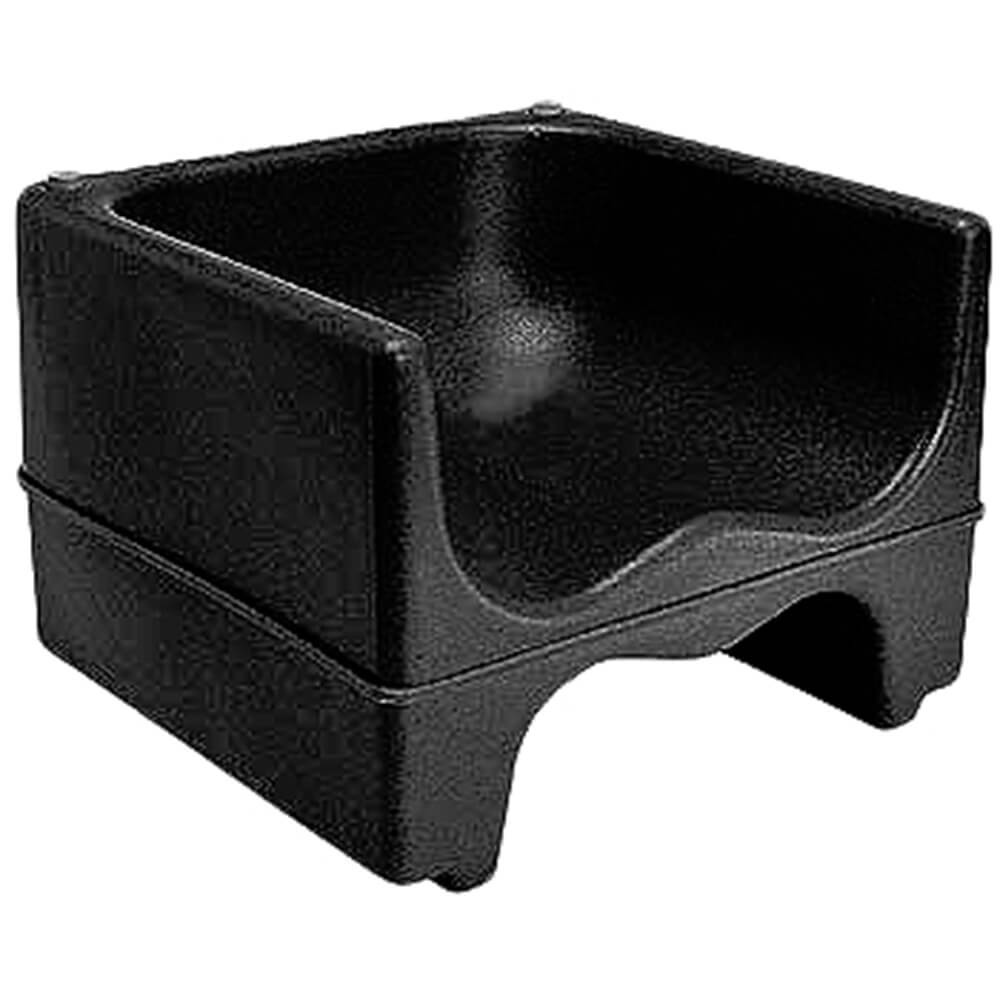 Black, Dual Height Booster Seat, No Strap, 1/PK