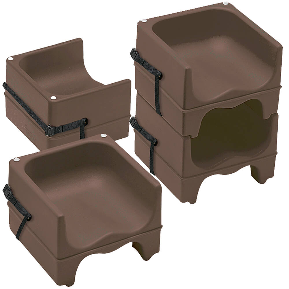 Cambro Dark Brown Dual Height Booster Seat With Strap 4