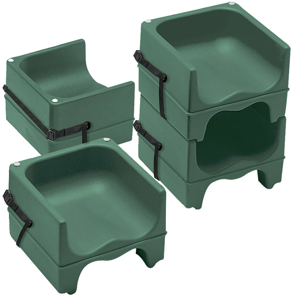 Cambro Green Dual Height Booster Seat With Strap 4 Pk