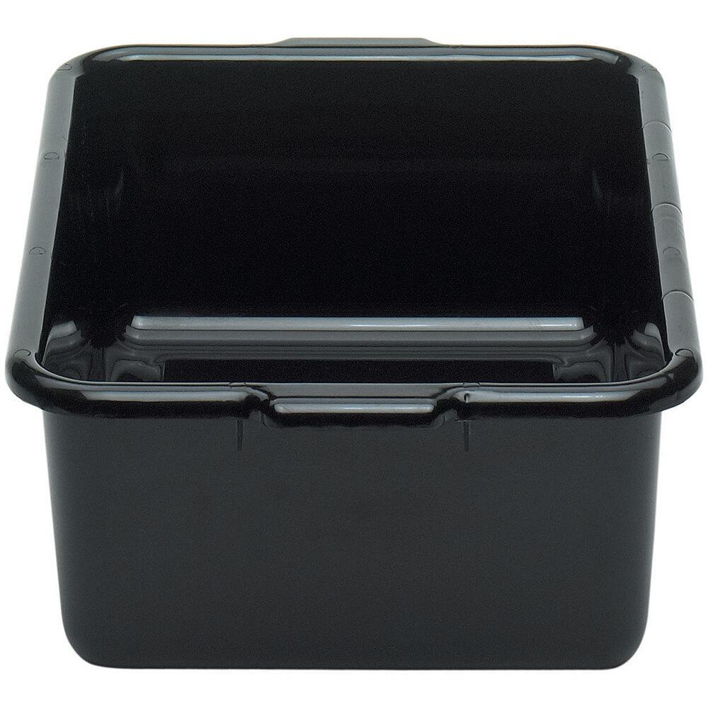 "Black, 15"" X 21"" Plastic Bus Boxes, 12/PK"