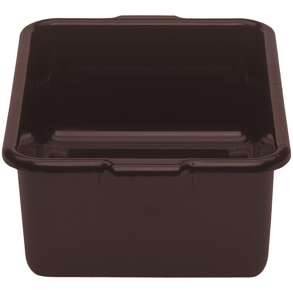 "Dark Brown, 15"" X 21"" Plastic Bus Boxes, 12/PK"