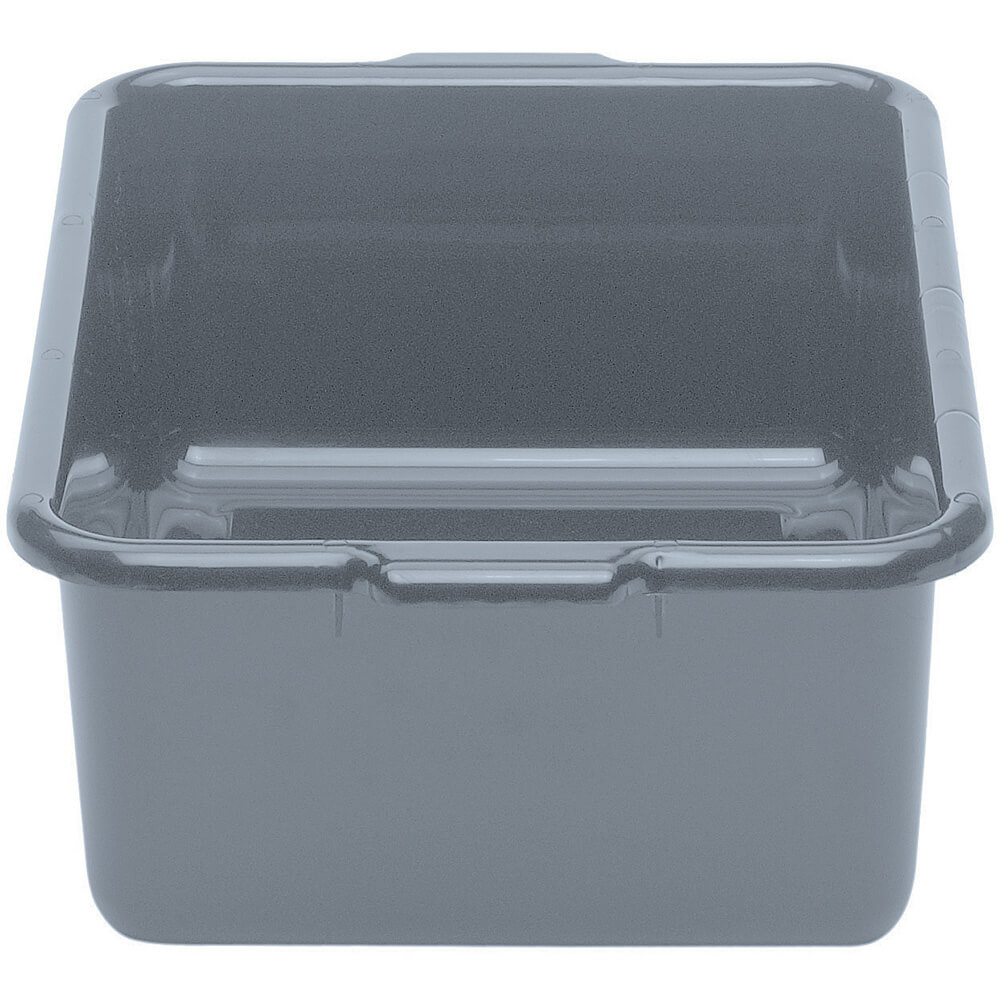 "Gray, 15"" X 21"" Plastic Bus Boxes, 12/PK"