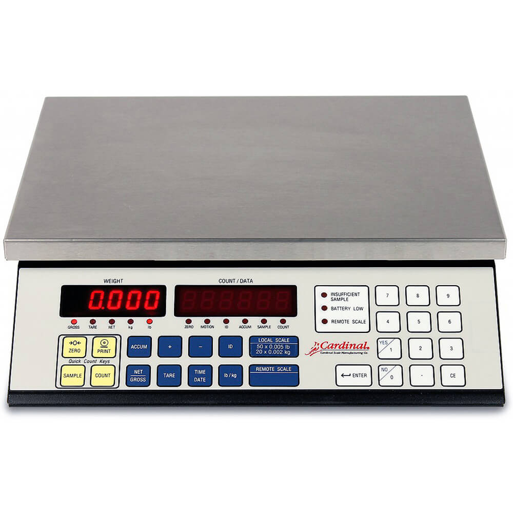 "Silver, Digital Counting Scale, 14.5"" X 8.25"", 20 Lb. View 2"