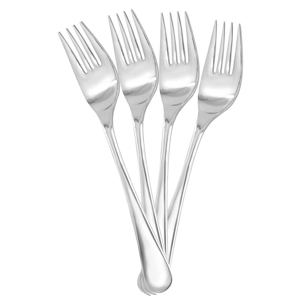 Manor Dinner Fork Replacement Flatware, Stainless Steel Mirror Finish, 12/PK
