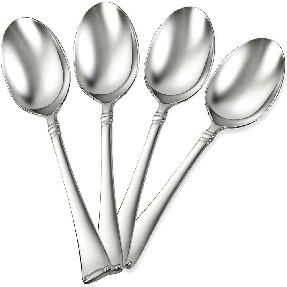 Stainless Steel, 18/10 Steel Angelico Silverware Set, Teaspoon, 4/PK