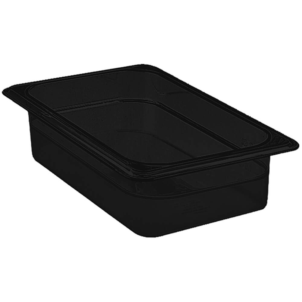 "Black, 1/2 GN High Heat Food Pan, 2 1/2"" Deep, 6/PK"