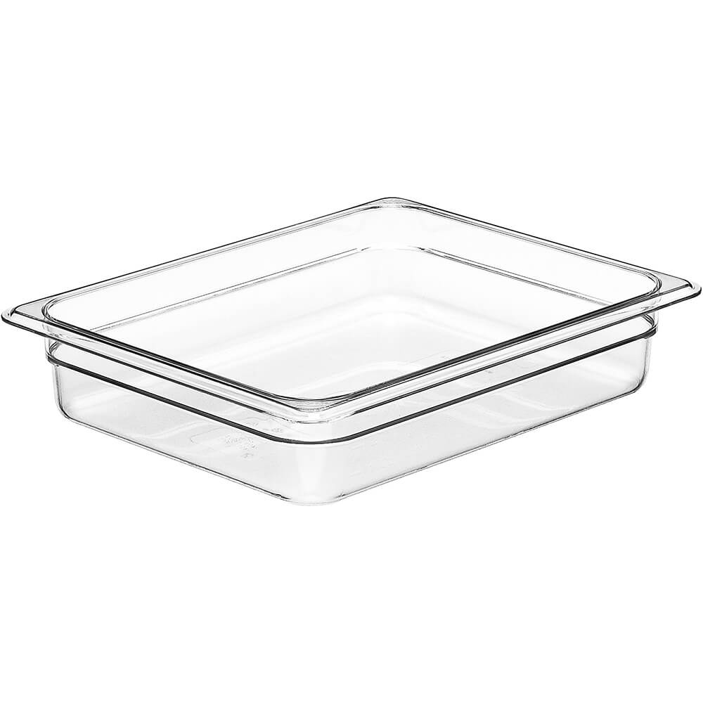 "Clear, 1/2 GN Food Pan, 2-1/2"" Deep, 6/PK"