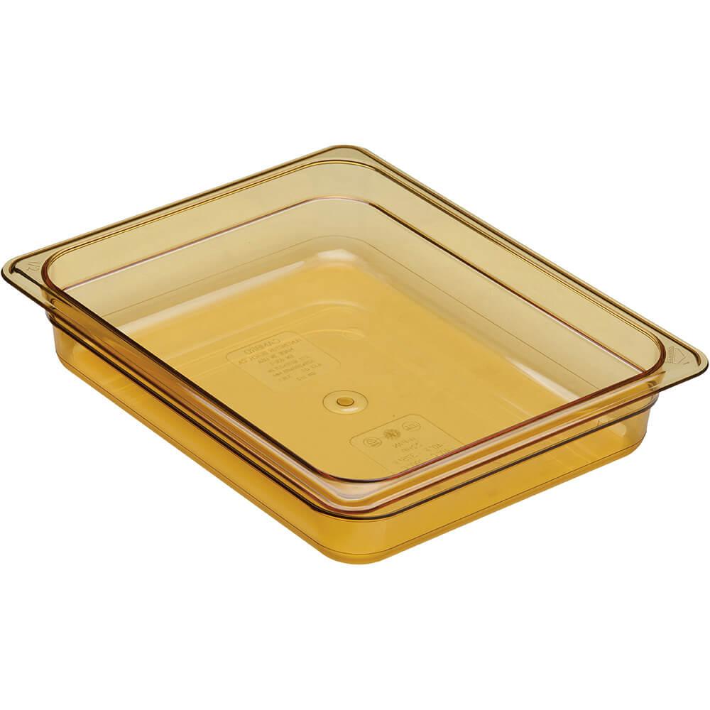"""Amber, 1/2 GN High Heat Food Pan, 2 1/2"""" Deep, 6/PK"""