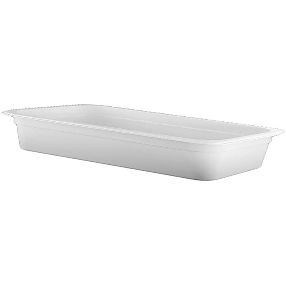 "White, 1/2 GN Long Food Pan, 2-1/2"" Deep, 6/PK"