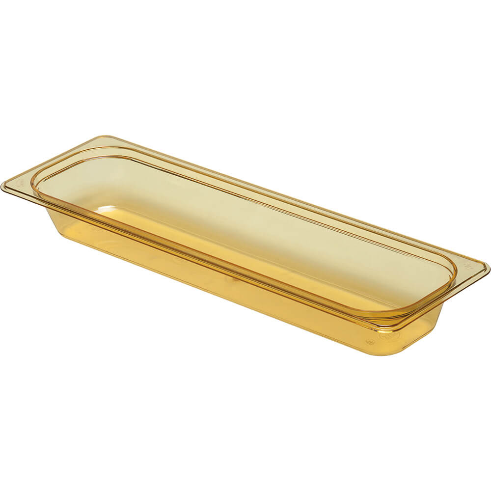 "Amber, 1/2 GN High Heat Food Pan, 2 1/2"" Deep, 6/PK"