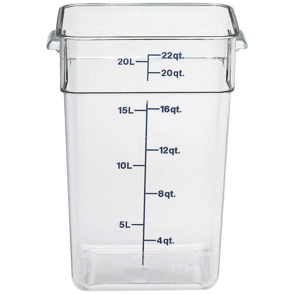 Clear, 22 Qt. CamSquare Food Storage Containers, 6/PK
