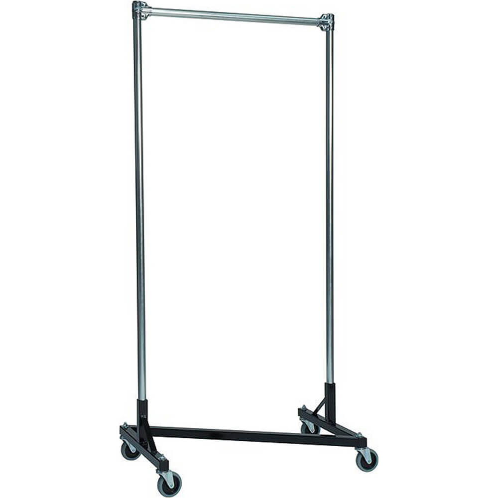 "Black Z-Rack, Heavy Duty Clothes Rack 36"" L x 72"" Uprights, Single Rail"