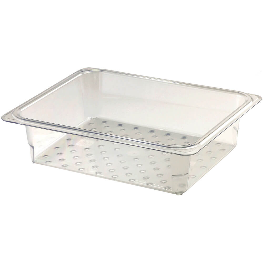 "Clear, Perforated Pan / Colander, GN 1/2, 3"" Deep, 6/PK"
