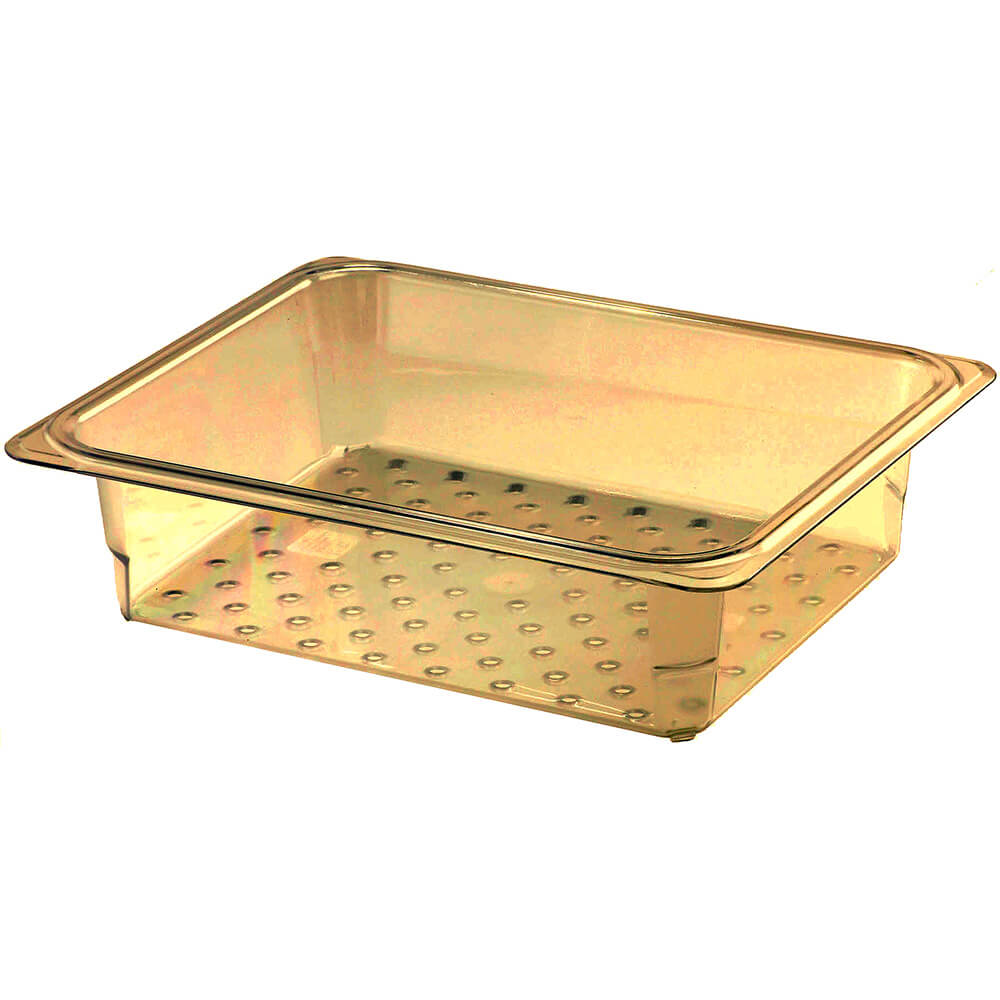 "Amber, High Heat Perforated Pan / Colander, GN 1/2, 3"" Deep, 6/PK"