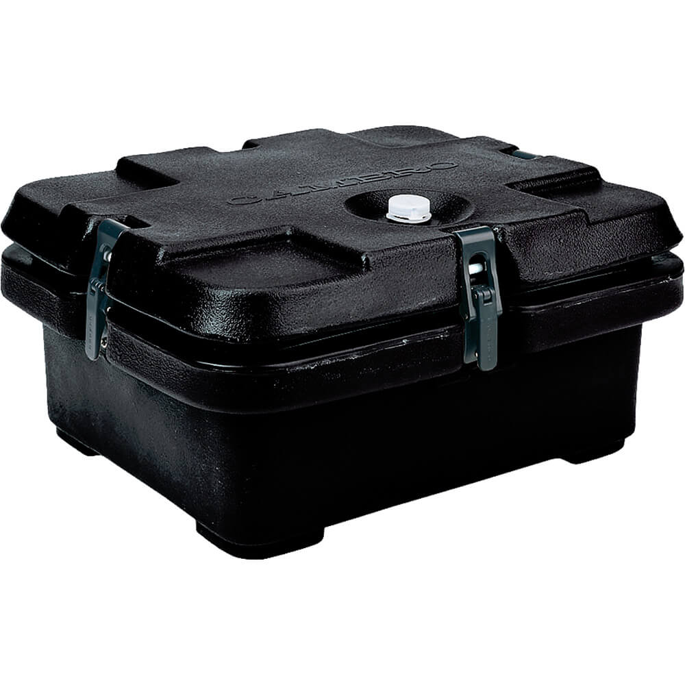 Black, Top Loading Insulated Food Carrier, Half Size Pans