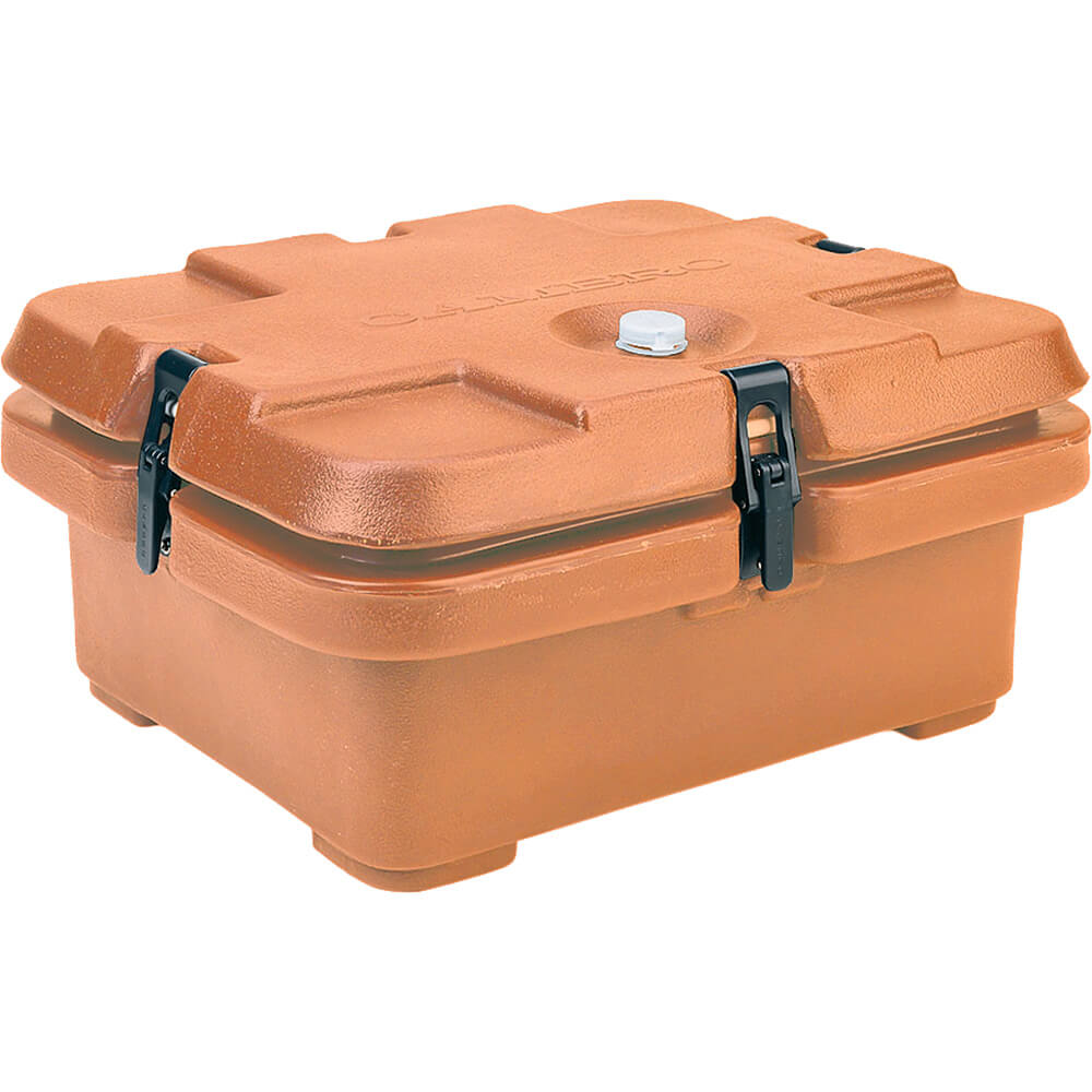 Coffee Beige, Top Loading Insulated Food Carrier, Half Size Pans
