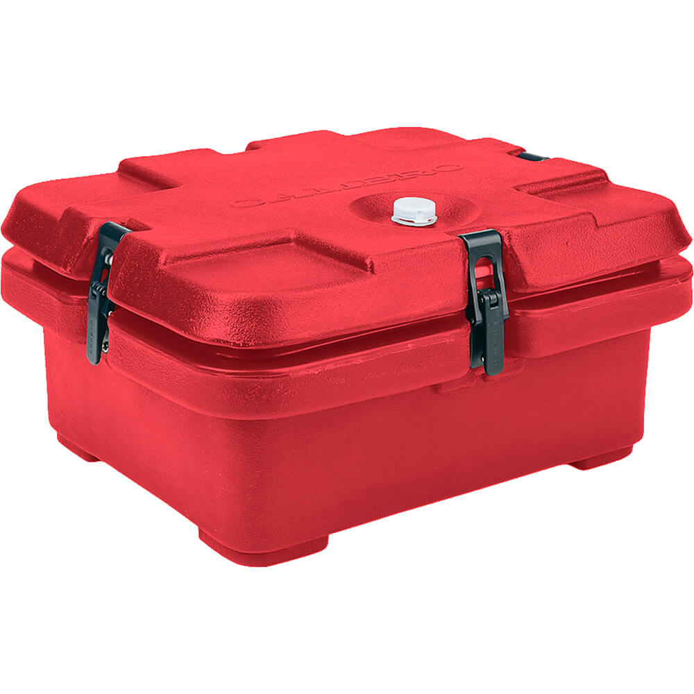 Hot Red, Top Loading Insulated Food Carrier, Half Size Pans