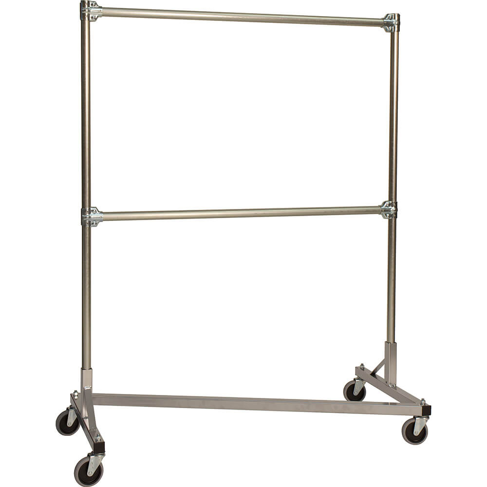 Silver z rack heavy duty clothes rack 48 l x 60 uprights