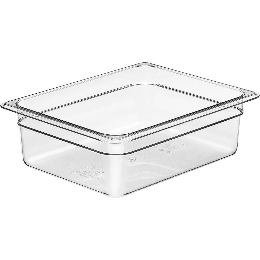 "Clear, 1/2 GN Food Pan, 4"" Deep, 6/PK"