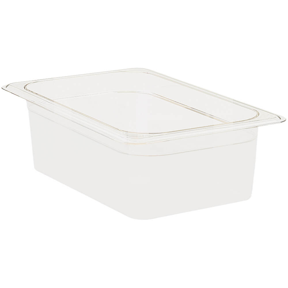 "White, 1/2 GN Food Pan, 4"" Deep, 6/PK"