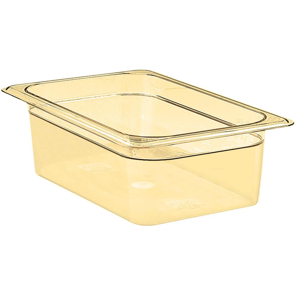 """Amber, 1/2 GN High Heat Food Pan, 4"""" Deep, 6/PK"""