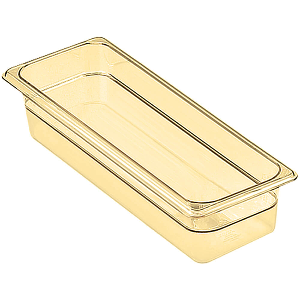 "Amber, 1/2 GN High Heat Food Pan, 4"" Deep, 6/PK"