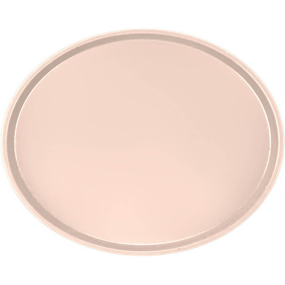 Light Peach, Large Restaurant Oval Tray, Fiberglass, 6/PK