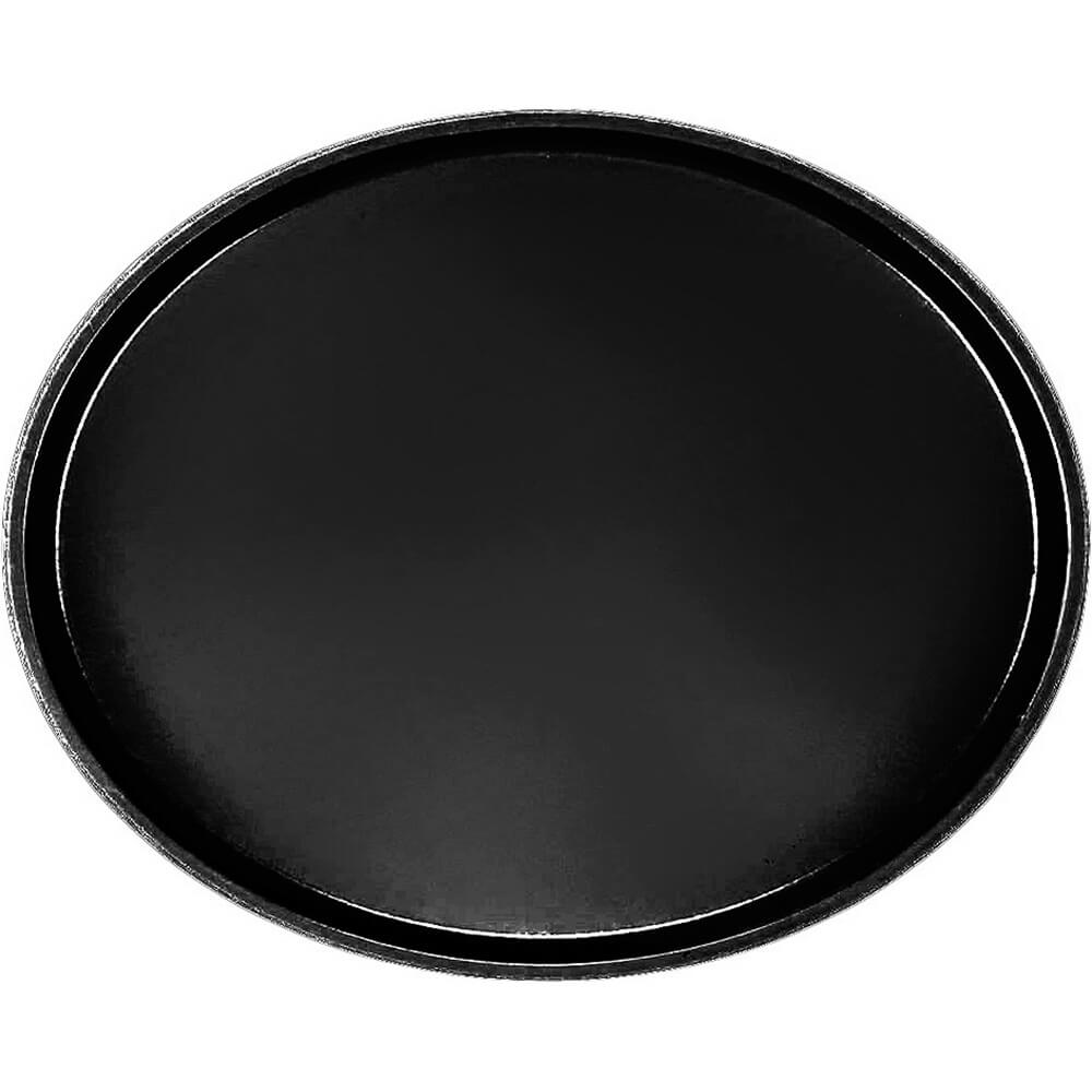 Black, Large Restaurant Oval Tray, Fiberglass, 6/PK