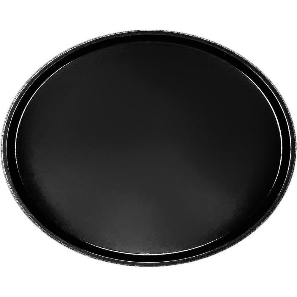 Black, Restaurant Oval Tray, Fiberglass, 6/PK
