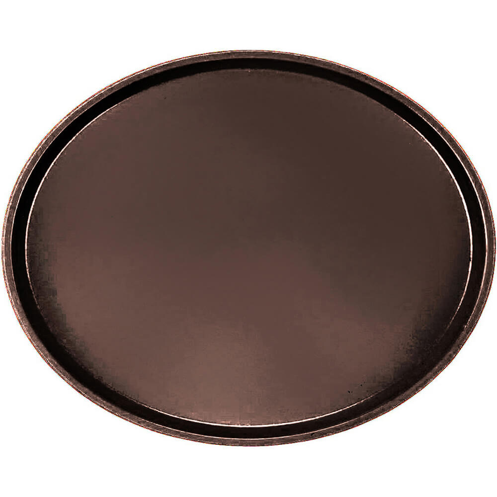 Brazil Brown, Large Restaurant Oval Tray, Fiberglass, 6/PK