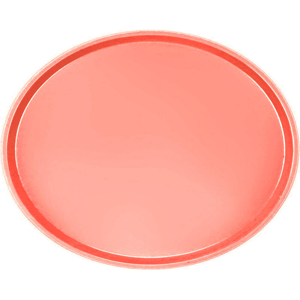 Dark Peach, Restaurant Oval Tray, Fiberglass, 6/PK