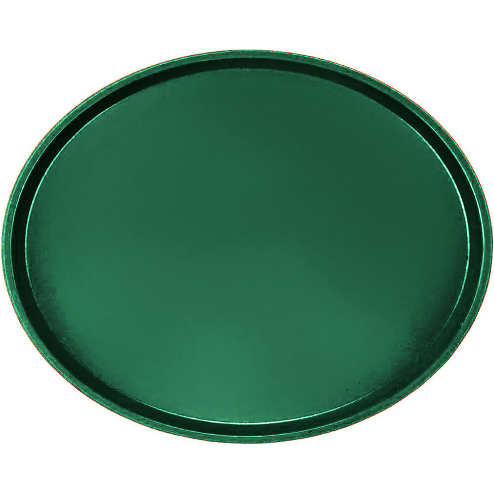 Sherwood Green, Large Restaurant Oval Tray, Fiberglass, 6/PK