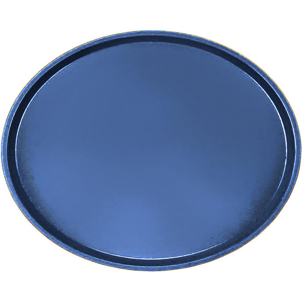 Amazon Blue, Large Restaurant Oval Tray, Fiberglass, 6/PK